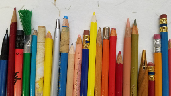 Pencils from Around the World - Collection and Photograph by Lorelle VanFossen - Lorelle in the Past Lane.