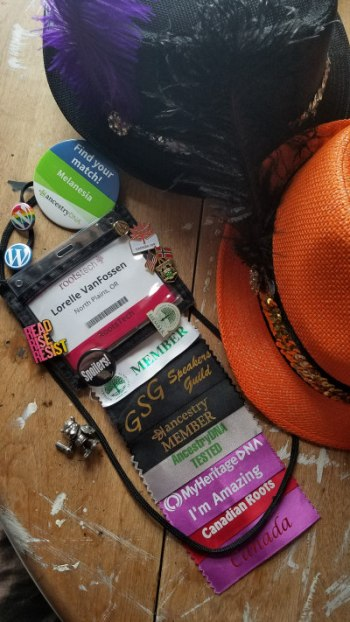 RootsTech 2018 Badges and Relics - photo by Lorelle VanFossen
