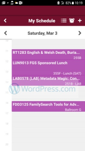 RootsTech 2018 - RootsTech App - Class Schedule