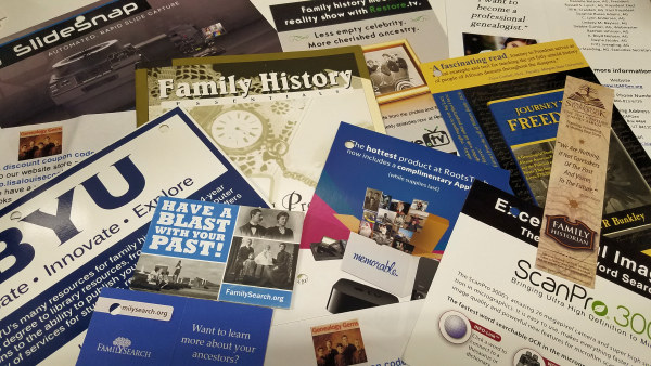 RootsTech - Genealogy and Family History Marketing Material - photo by Lorelle VanFossen