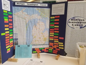 Michigan Genealogical Council Booth Sign Boards - FGS 2017