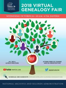 2018 Virtual Genealogy Fair with US Archives.