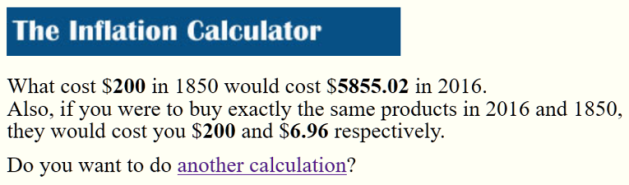 Westegg Inflation Calculator